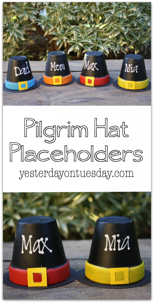 Pilgrim Hat Placeholders: How to make darling placeholders for Thanksgiving.