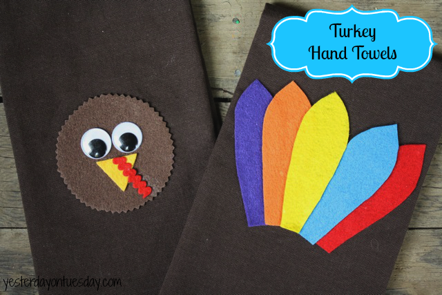 Sweet Turkey Hand Towel Project from http://yesterdayontuesday.com