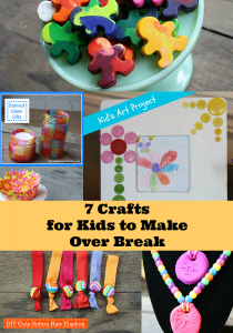 7 Crafts for Kids to Make over their break from school from Yesterday on Tuesday