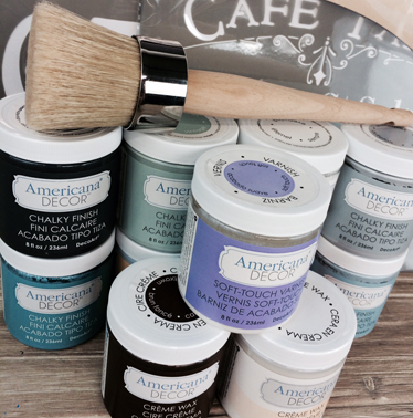 Americana Decor Chalky Finish Giveaway: Enter for a chance to win 8 colors of your choice, clear and dark creme waxes, Soft Touch varnish, waxing brush and 2 stencils of your choice via Yesterday on Tuesday