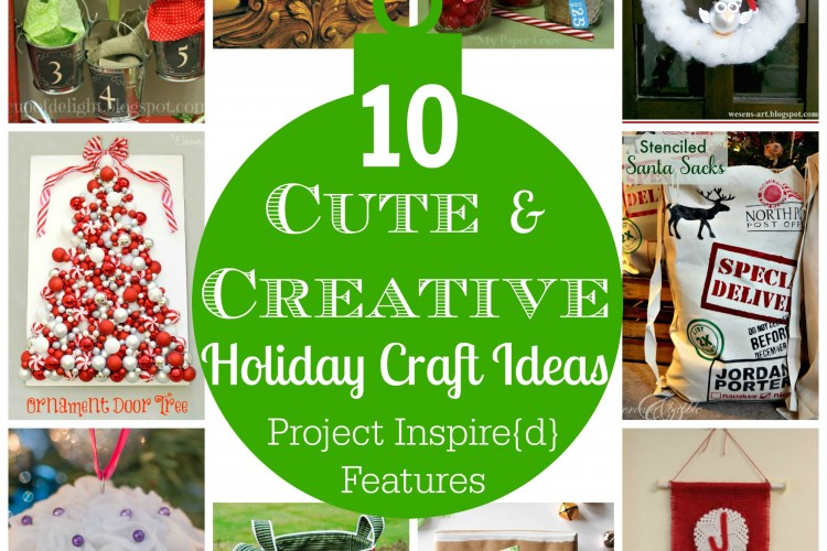Cute and Creative Christmas ideas shared at Project Inspire{d} Link Party