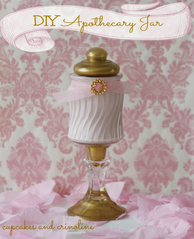 DIY Apothecary Jar from Cupcakes and Crinoline