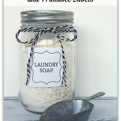 DIY Laundry Soap and Labels