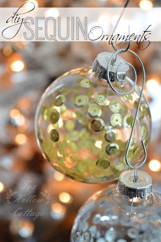 DIY Sequin Ornaments