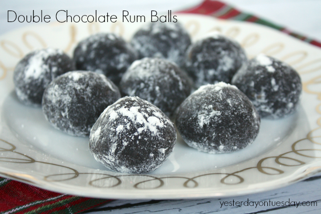 Recipe for Double Chocolate Rum Balls from http://yesterdayontuesday ...