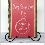 Make an Easy Wood Chalkboard perfect for holidays including Christmas, Valentine's Day and Fourth of July