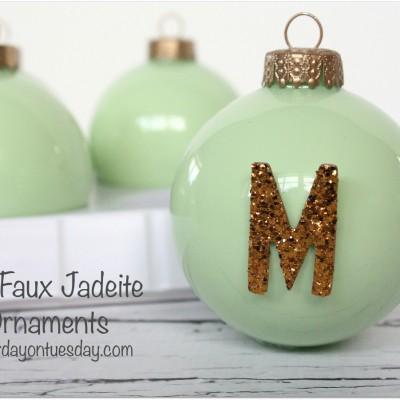 Faux Jadeite Ornaments