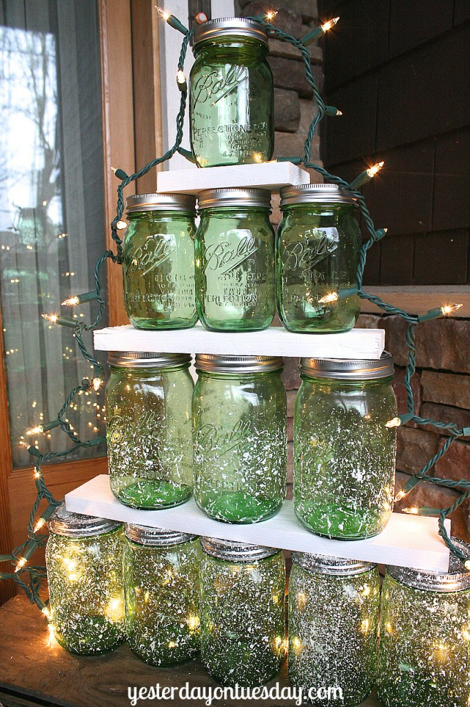 Mason Jar Christmas Tree Yesterday On Tuesday