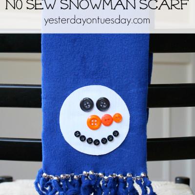 No Sew Snowman Scarf