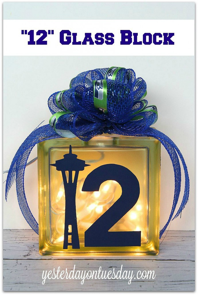 Glass Block decor for Seahawks fans #seahawks