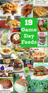 Yummy Game Day Food Ideas shared at Project Inspire{d}