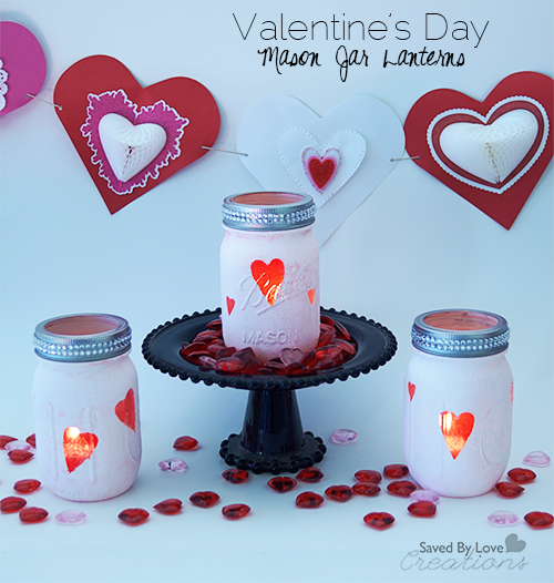 DIY Chalkboard Paint Mason Jar Valentines by Saved by Love Creations
