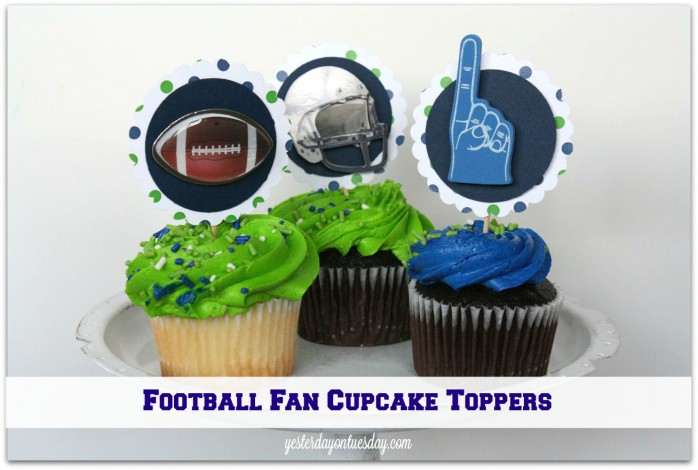 Football Fan Cupcake Toppers #seahawks