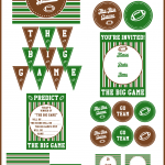 Football Party Printables for The Big Game via http://yesterdayontuesday.com