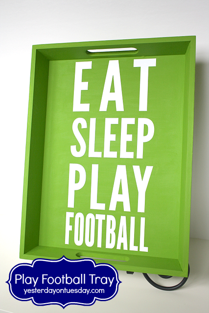 Play Football Tray from http://yesterdayontuesday.com #seahawks #footballcrafts