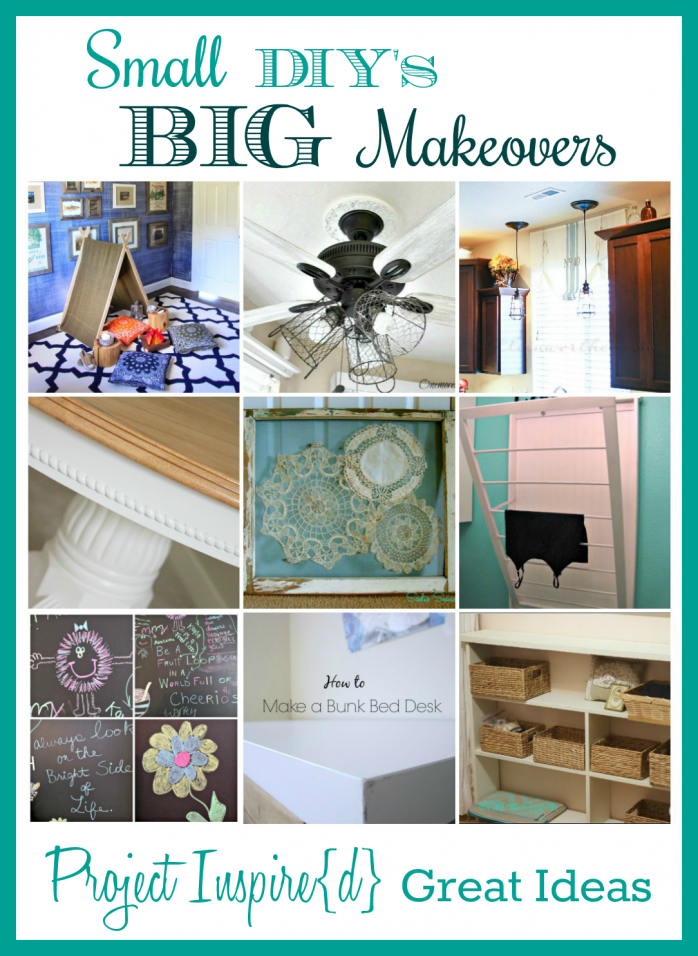 Small makeovers that make make big transformations shared at Project Inspire{d}