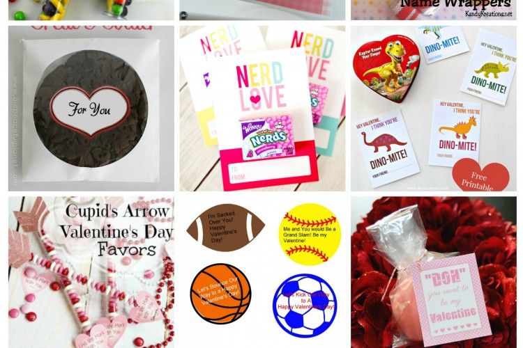 PI Features: 9 Printable Valentines