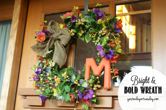 Customize a bright and bold wreath to boost your home's curb appeal
