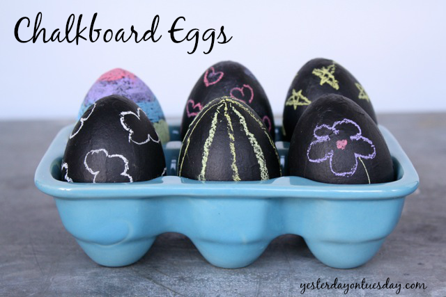 Chalkboard Eggs for Easter