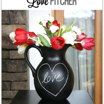 Chalkboard Love Pitcher