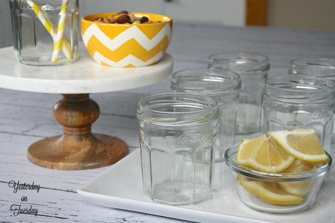 Save those glass jars and reuse them for organizing, entertaining and more from http://yesterdayontuesday.com #glassjars