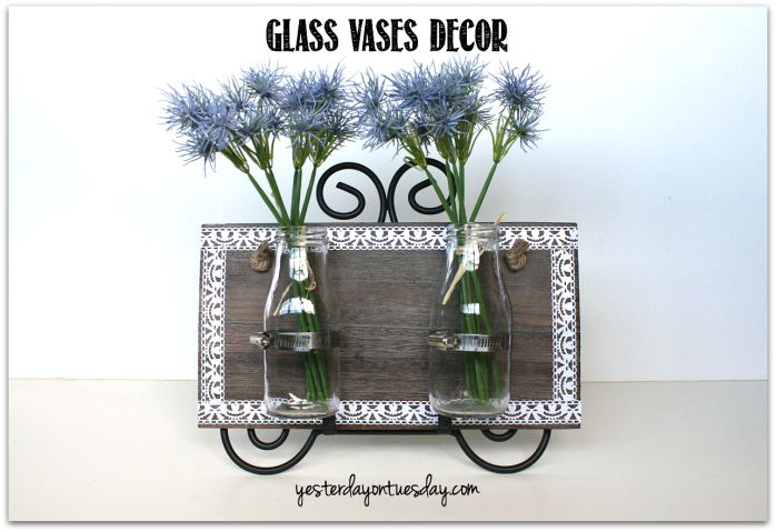 Perk up your porch with some glass vases decor