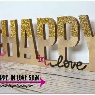 Happy in Love Sign