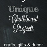 Fresh ideas on using chalkboard paint around your home as well as for gift ideas #chalkboard