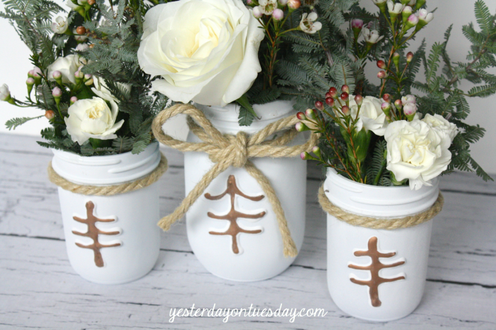 Rustic Mason Jar Centerpieces | Yesterday On Tuesday