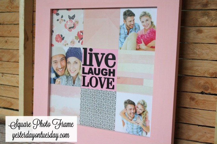 Square Photo Frame, great Valentine's Day or wedding gift