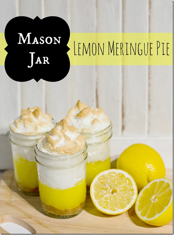 Mason Jar Lemon Meringue Pie from It All Started with Paint