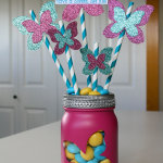 Butterfly Bouquet in a Mason Jar, festive spring decor or gift idea