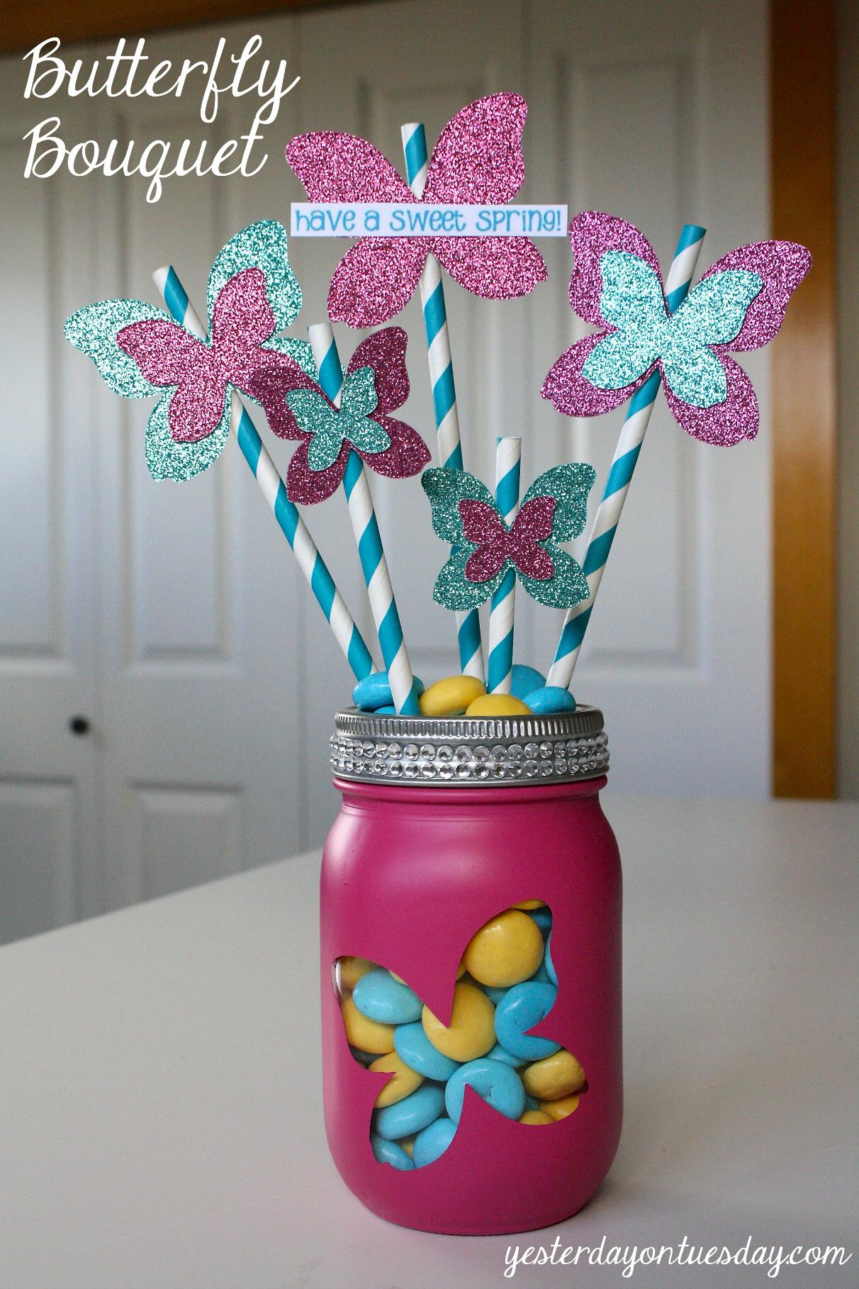 Butterfly Bouquet in a Jar