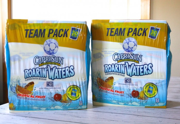 Party prep for the Kid's Choice Awards featuring Capri Sun Roarin' Waters