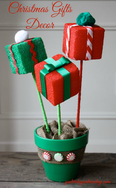 Flower Pot Christmas Decor
