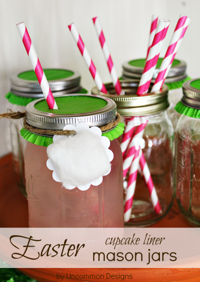 Easter Cupcake Liner Mason Jar from Uncommon Designs