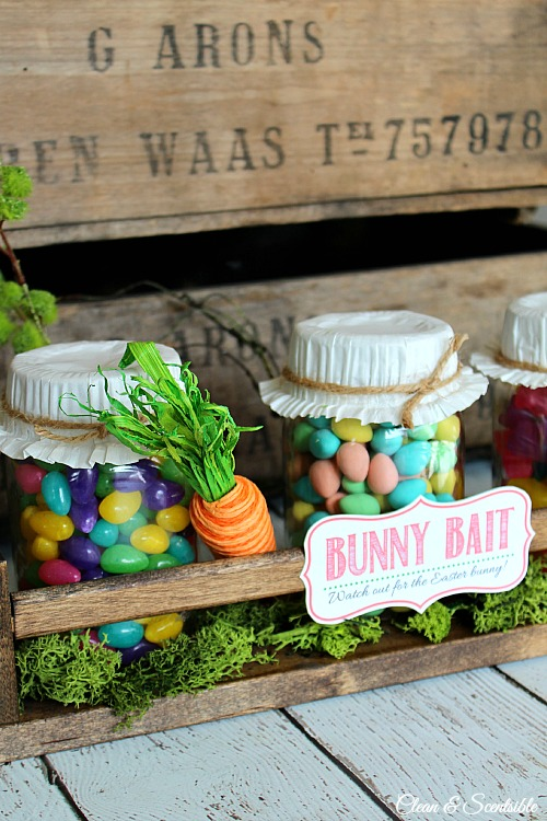 Bunny Bait Jars from Clean and Scentsible
