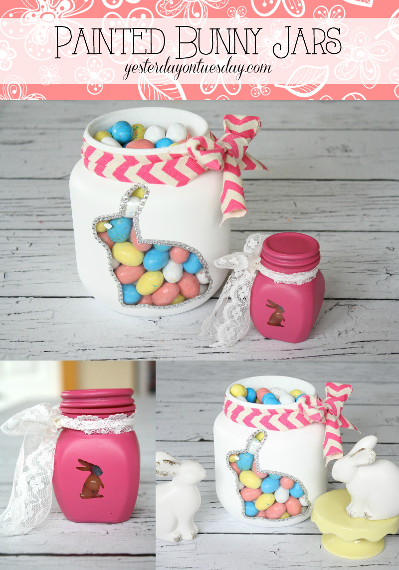 Painted Bunny Jars