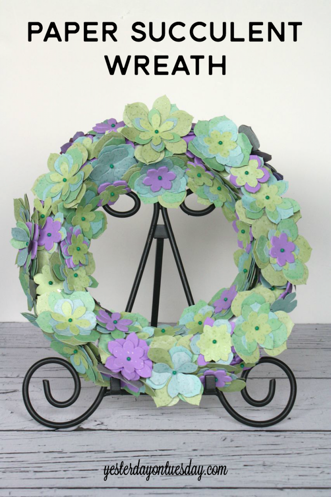 DIY Paper Succulent Wreath
