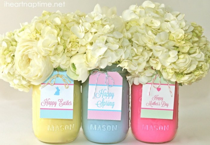 Spring Mason Jars by I Heart Naptim