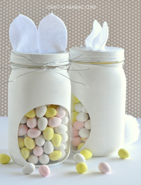 Bunny Embellished Candy Jars