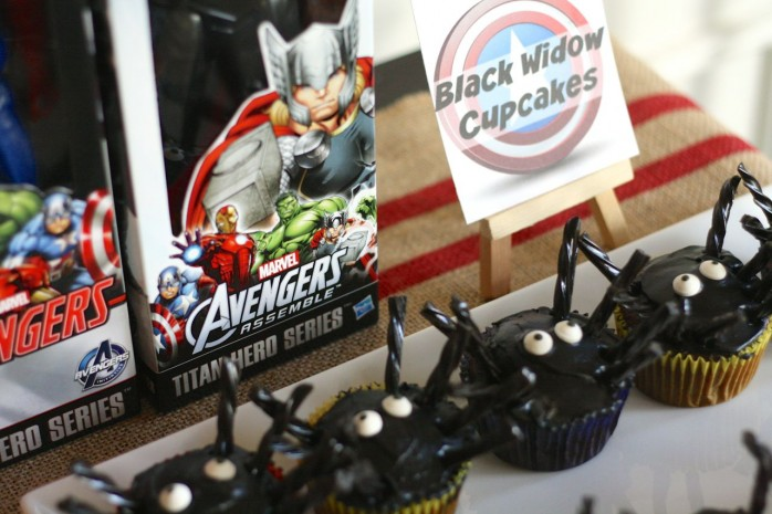 Black Widow Cupcakes