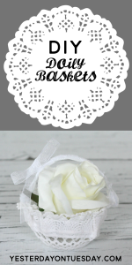 How to transform a plain doily into a lovely Doily Basket, great for a flower girl basket for a wedding.