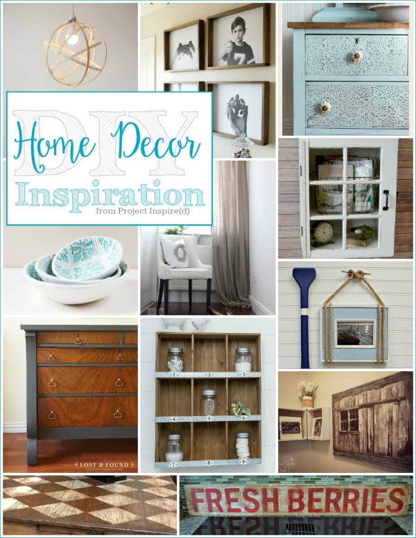A dozen beautiful DIY Home Decor Ideas, shared at Project Inspire{d}