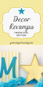 Decor Revamps for Tween Girls: Take things from plain to pretty awesome with chalky finish paint.