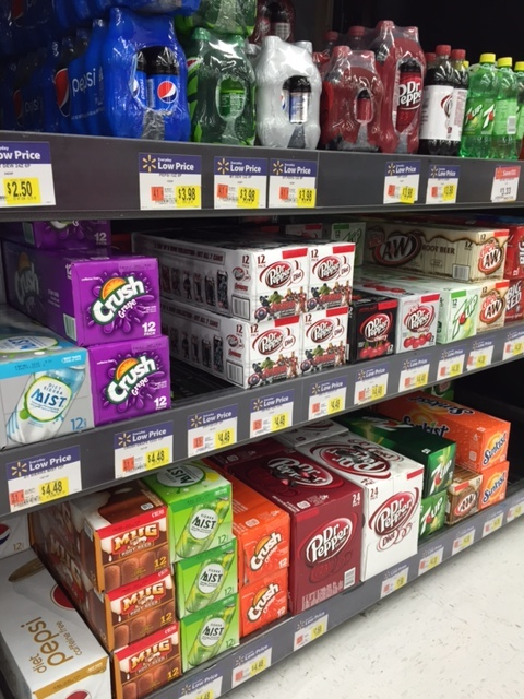 Dr. Pepper on Shelf