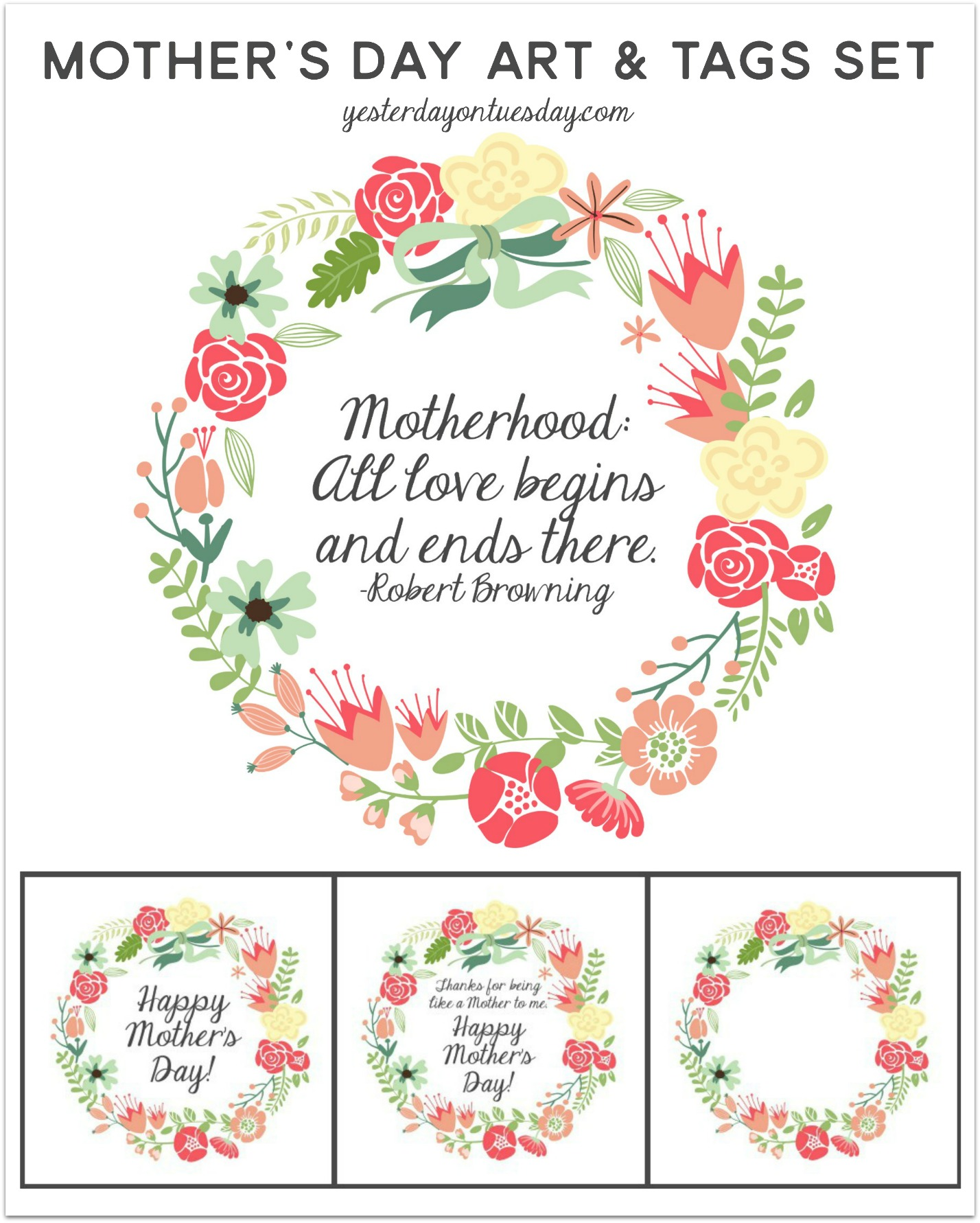 photograph regarding Free Printable Mothers Day Tags named Moms Working day Printables and Developing with GraphicStock