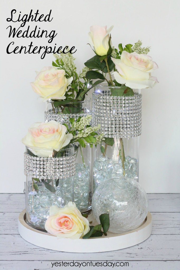 DIY Lighted Wedding Centerpiece, a lovely addition to your wedding decor