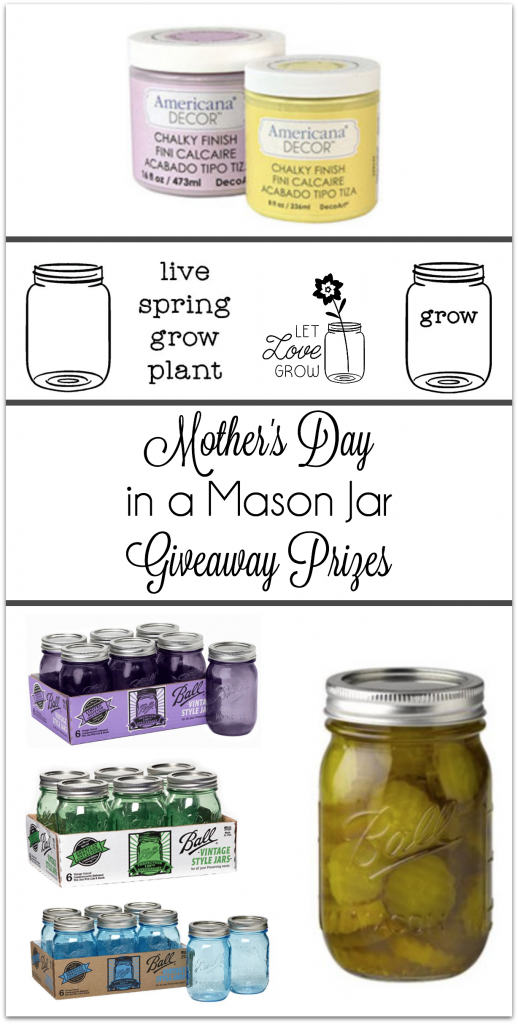 Mother's Day in a Mason Jar Giveaway Items