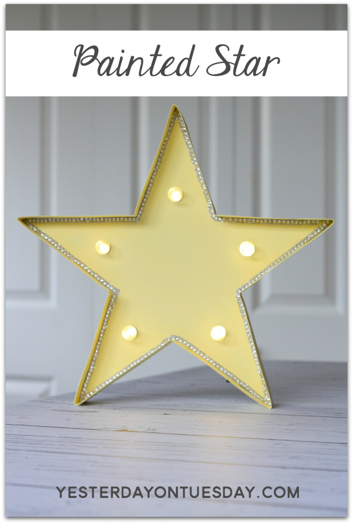 Painted Star: How to add color and sparkle to a lighted star